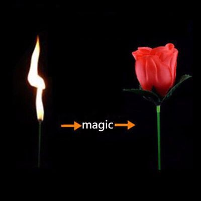 Magic Flame Rose Torch Trick Fire Stage Appearing Flower Close Tricks Up Hot New