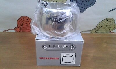 Stellar Stainless Steel Sugar Bowl/ Basin New in Box