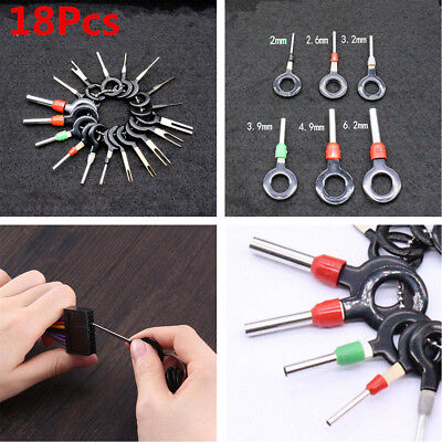 18x Car Wire Terminal Removal Tool Wiring Connector Pin Extractor Puller Tools