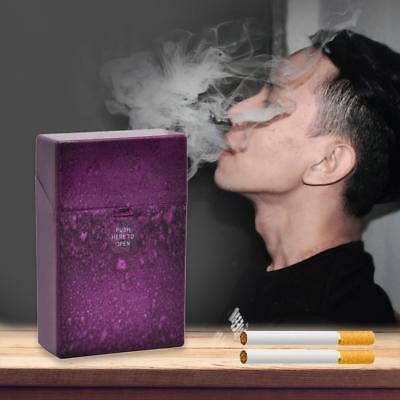 Portable Starry Sky Pattern Plastic Cigarette Case Cigar Holder Box (Purple)