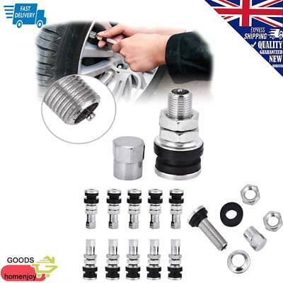 10 PCS Metal Car Truck Motorcycle Bolt In Tire Tyre Valve Stems with Dust Cap UK