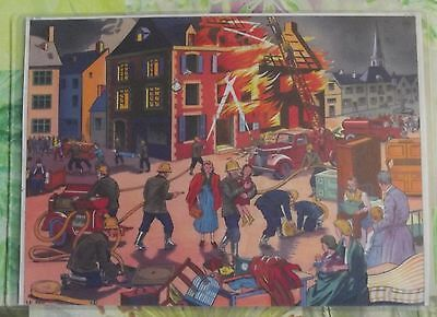 Decoration Wall,Table mat 42 x 30 cm 1950 the soldiers of Fire,Fireman helmet