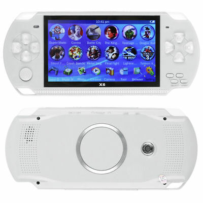 8GB Portable 4.3'' PSP Handheld Game Console + FUN Games Built-In Camera White