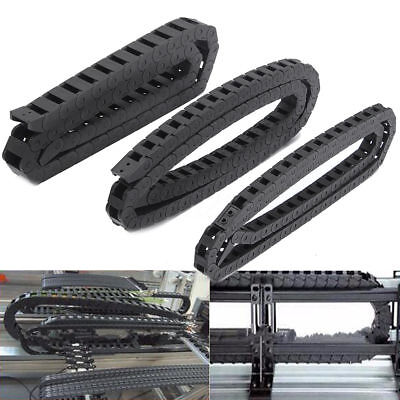 Black Nylon Energy Chain Drag Cable Towline Carrier Wire For CNC Router Mill CA