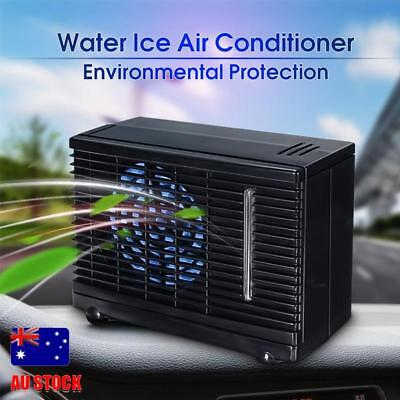 Portable Car Home Air Conditioner Water Evaporative 2 Speed Cooling Desk Fan 12V
