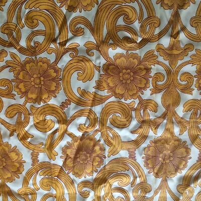 Vintage 60s 70s Fabric Sample Zero Waste Wrap Psychedelic Flower Power