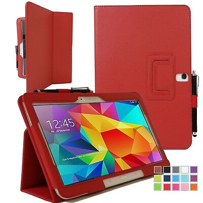 "Smart Folio PU Leather Flip Stand Case Cover Samsung Galaxy Tab 4 10.1"" SM-T530"
