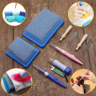 Needle Wool Felting Handle holder Embroidery Mat Brush Craft Kit Tool New