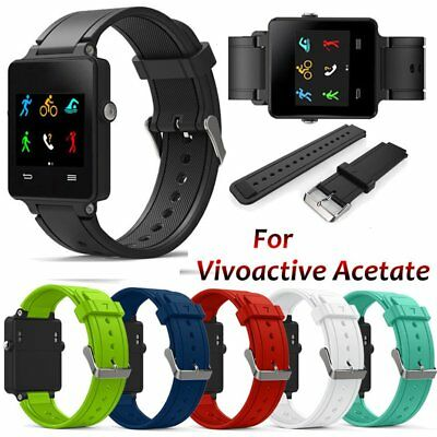 Replacement Wrist Band Silicone Watch Strap for Garmin Vivoactive O768 EC