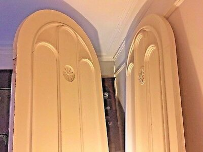 Pair of late 19thc. HUUUGE! 2.8 metre high ARCHED GOTHIC DOORS, deep moulded