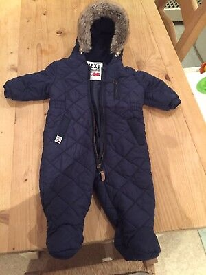 Baby Boys Next Snowsuit 6-9 Months