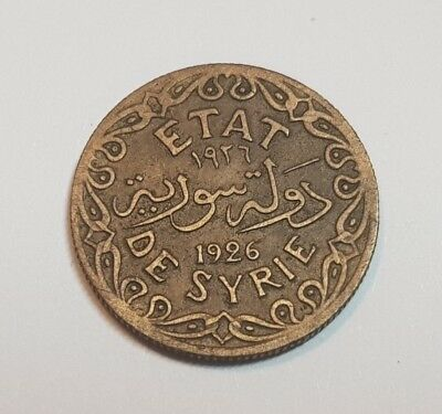 Syria Syrie Syrian 2 Piastres 1926 Coin KM69 XF++ Rare Grade Wheat Low Mintage