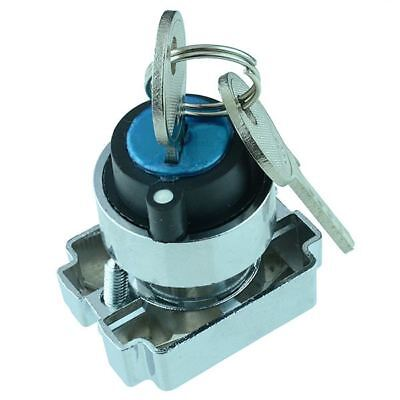 Techna PtecMetK2CRA 2 Position Metal Key Switch