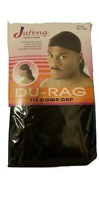 Men's Durag Du-rag Bandana Sports Du Rag Scarf Head Rap Tie Down Band Biker Cap