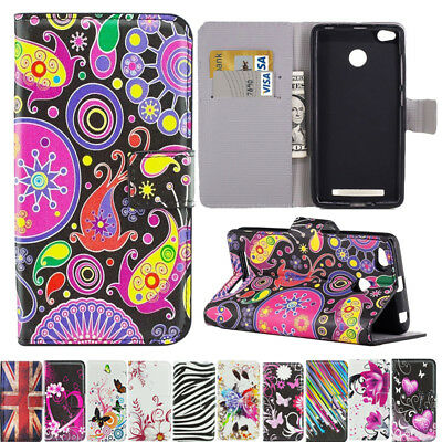 Patterned Magnetic PU Leather Flip Wallet Phone Case Cover For Xiaomi Mi A1 A2