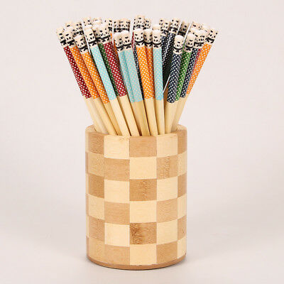 10 Pairs of Bamboo Chopsticks 24cm Long Reusable Chinese Cooking Dinner Cutlery