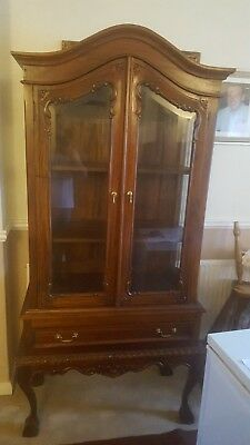 Chippendale Reproduction Mahogany Display Cabinet