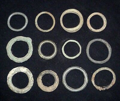 Lot of 12 CELTIC Ancient Coin Bronze Ring / Proto Money - Circa 600-400 BC  /726