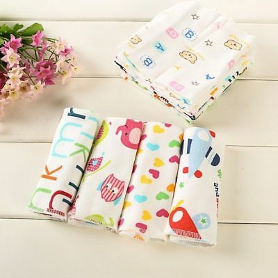 6Pcs Pure Knitted Cotton Baby Face Small Square Handkerchief Soft Towel Cartoon