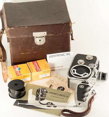 Bolex Paillard C8, Double-8 Film Movie Camera, Spring Motor