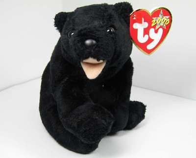 Mwmt 2000 Cinders The Black Bear Beanie #4295 By Ty