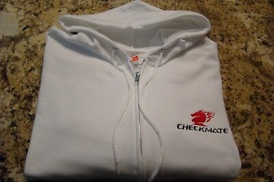 Checkmate Knight Boat Sz XL Embroidered Hooded Sweatshirt Full Zip