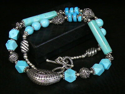 (aB1310)   Handmade Natural persian Turquoise Necklace