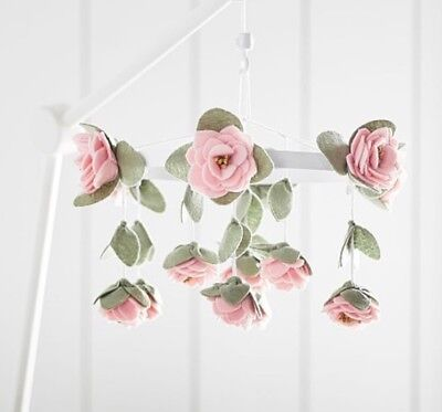 Pottery Barn Kids Rose felt rose mobile
