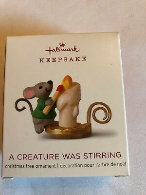 Hallmark 2018 Miniature #4 Creature Was Stirring Series Mouse Candle Ornament