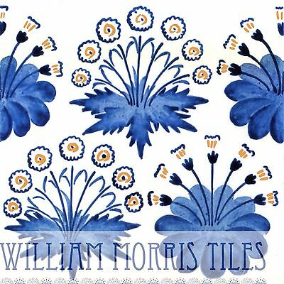 Blue Daisy William Morris Wall Tile Bathroom Kitchen Or Fireplace