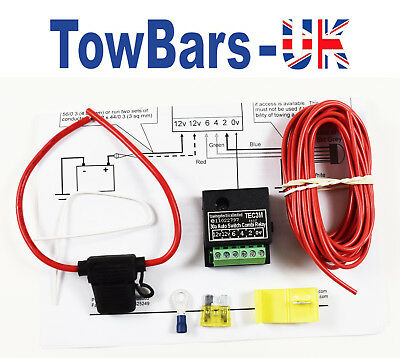 Self Switching Charging Relay Kit For Twin 12S & 13 Pin Towing Electrics TEC3M