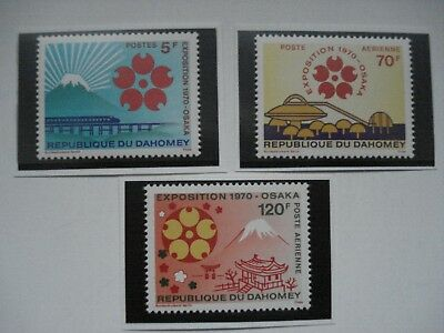 Expo 70 Osaka Japan Republique Du Dahomey Lot Of 3 Different Stamps Mint Nh-Vf