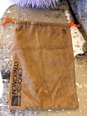 Authentic Nike ID Suede Dust/Sleeper/Shoe Bag Brown w/ Orange Accents
