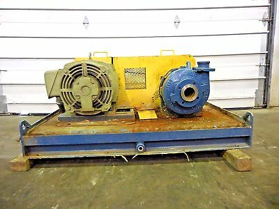 """RX-3645, METSO HM50 LHC-D 3"""" x 2"""" SLURRY PUMP W/ 40HP MOTOR AND FRAME"""
