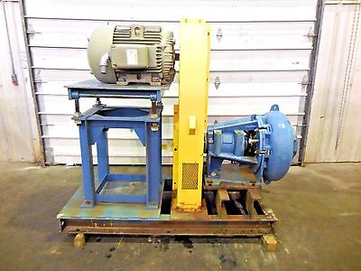 """RX-3617, METSO MM200 LHC-D 8"""" x 6"""" SLURRY PUMP W/ 40HP MOTOR AND FRAME"""