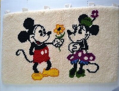 Shillcraft Readicut Rugs Baltimore Md Mickey and Minnie Mouse handmade wall hang