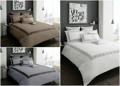 New Luxury Victoria Quilt Duvet Cover Polycotton Bedding Size Single Double King