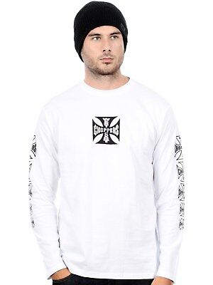 West Coast Choppers White OG Cross Long Sleeved T-Shirt