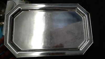 Estate English Sterling silver deco 925 Serving tray platter coffee tea 624 gram