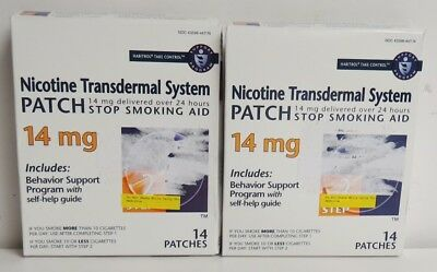 Habitrol Step 2 Transdermal Nicotine Patches 14mg 28 patches Sealed Exp 12/2019+