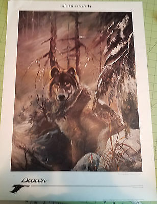 """Wolf Poster """"Silent Watch"""" by Deacon 1987"""