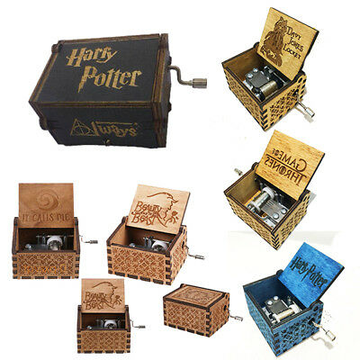 Wood Music Box Harry Potter Game of Thrones Engraved Kids Adults Best Gifts Toys