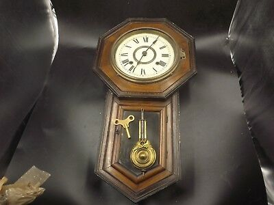 Antique Japanese Wall Clock 23In Aichiclock For Repair