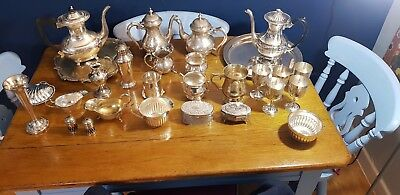 A Job Lot Of 28 Vintage Silver Plated Items.many Makers Names.7 Kgs In Weight.