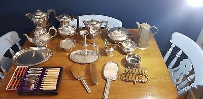 A Job Lot Of 20 Vintage Silver Plated Items.many Makers Names.6 Kgs In Weight.
