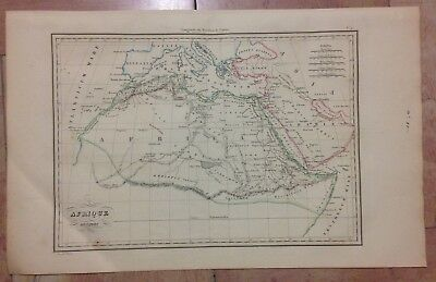 ANCIENT AFRICA  by HUOT 1831 XIXe CENTURY ANTIQUE ENGRAVED MAP