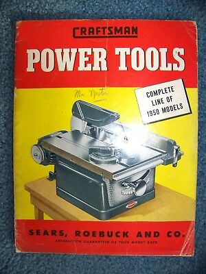 1950 Craftsman Power Tool Catalog Sears 50 Pages Used Condition