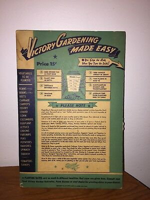 Ww Ii Vintage 1943 Victory Garden Made Easy Information Wheel Planting Guide