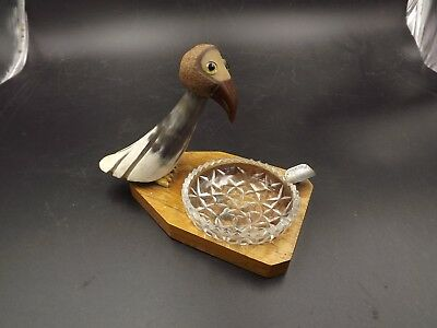 Vintage 1950S Nut Bird Ashtray British Made Compleate With Original Glass Bowl