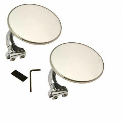 "Peep Mirror Stainless Steel 4"" Vw,chevy,holden,ford,mini,morris,hot Rod"